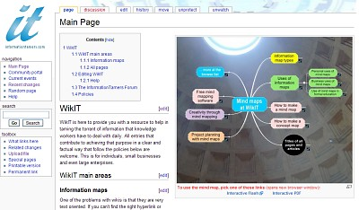 WikIT's mind mapping wiki